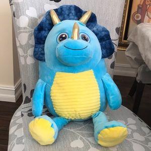 Hug fun, flip eye Dino plush stuffed toy.